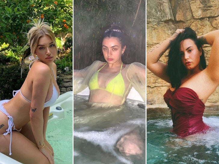 Steamy Stars In Hot Tubs