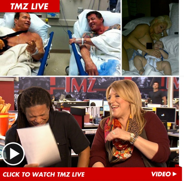 TMZ Live: Lisa Lampanelli -- Arnold & Sly Photo Is A Fraud