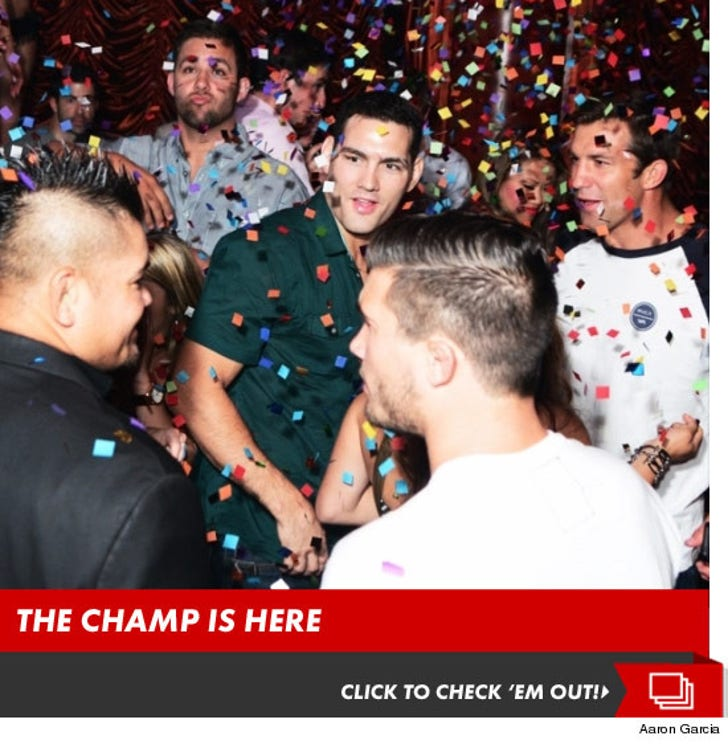 Chris Weidman Celebrating