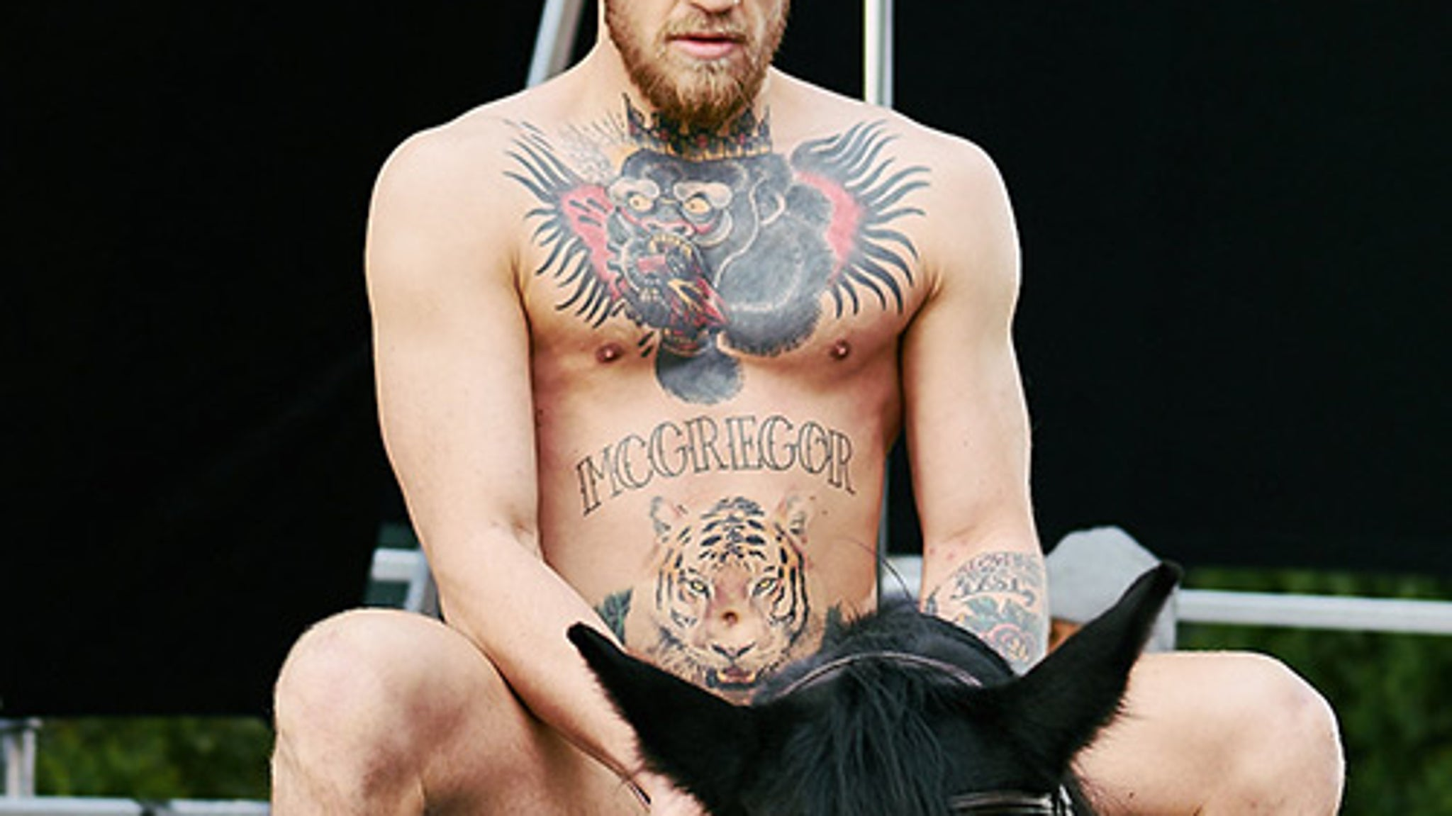 Conor McGregor Goes Stark Bullock Naked  On a Horse