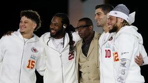 Jimmy Garoppolo, Patrick Mahomes Face Off At Super Bowl Opening Night