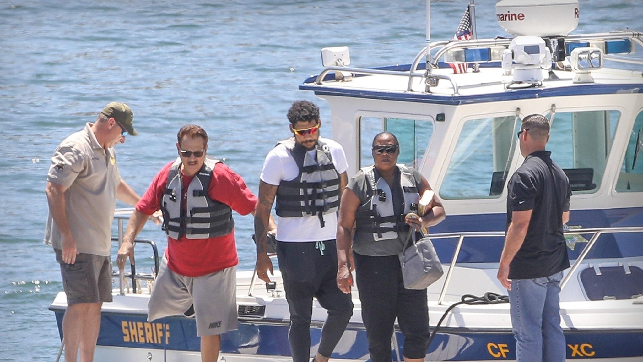 Naya Rivera's Dad Joins Mom, Brother in Lake Piru Search, Emotional Visit