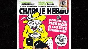 Queen Elizabeth Kneels on Meghan Markle's Neck in Charlie Hebdo Cover