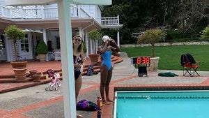 Katie Ledecky & Simone Manuel Used Swim Legend's Backyard Pool To Train For Olympics