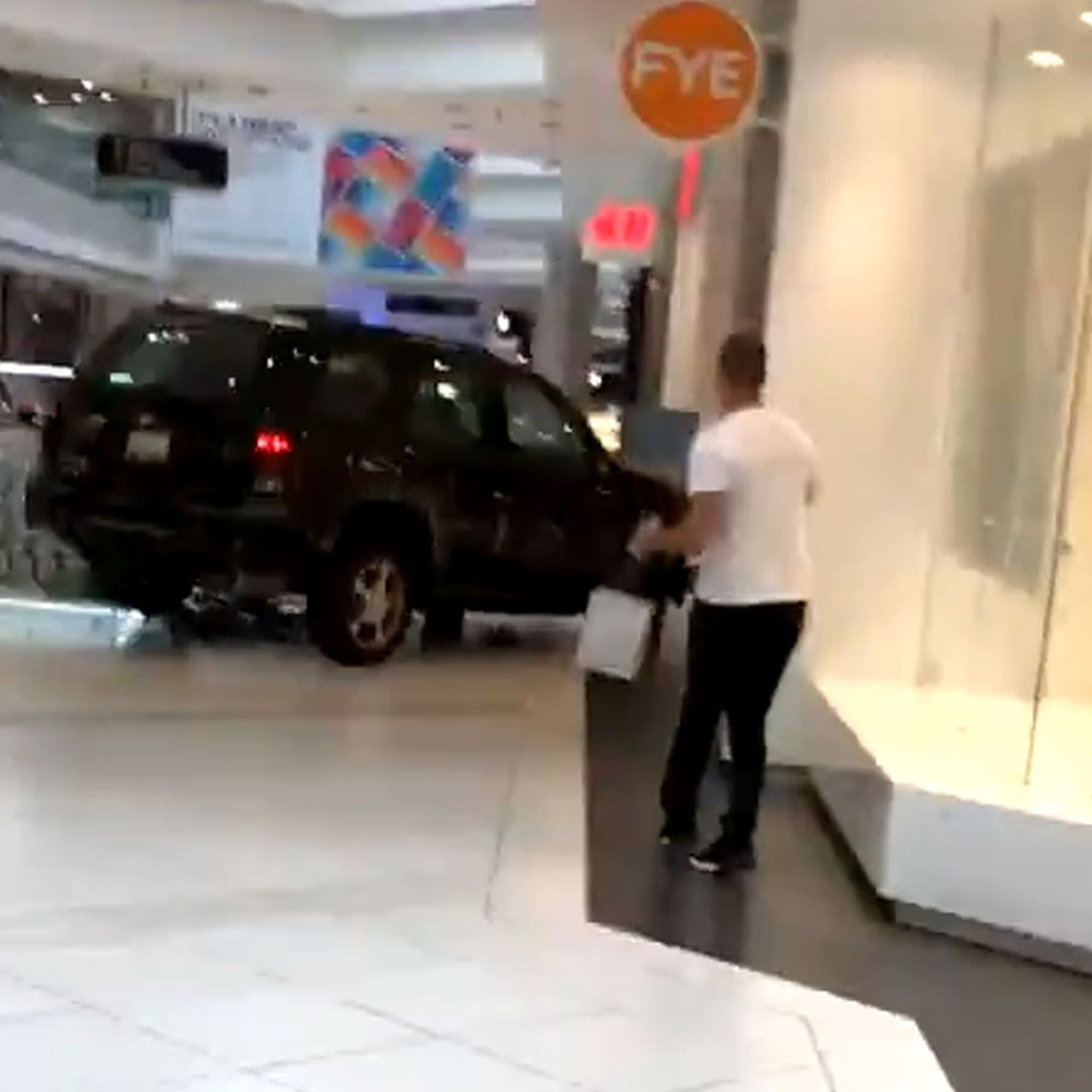 Driver Plows Car Through Mall in Chicago Suburb