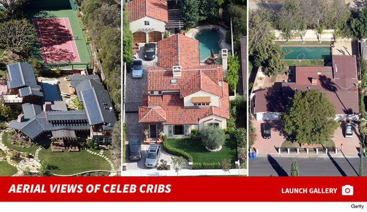Aerial Views of Celebrity Homes