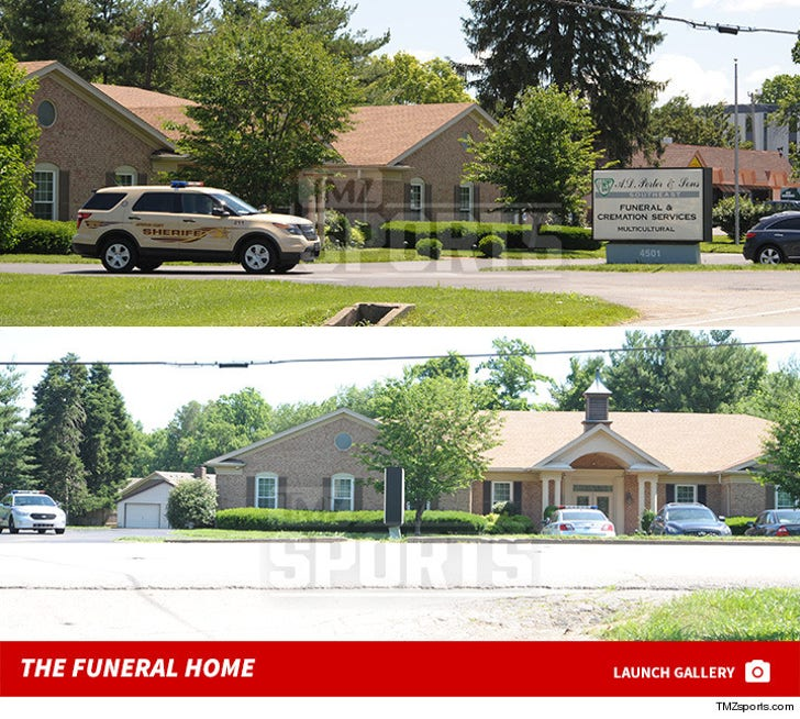 Muhammad Ali -- Cops Protecting Funeral Home