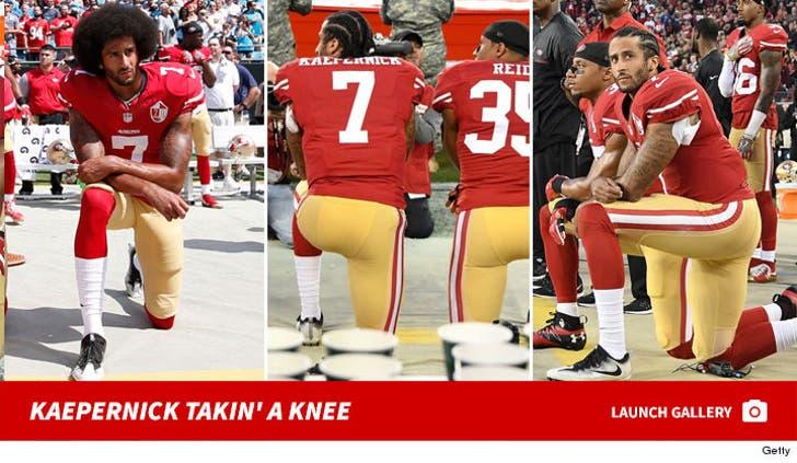 Colin Kaepernick Kneeling in Protest