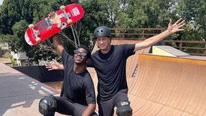 Lil Nas X Skates With Tony Hawk, No Bad Blood Here!