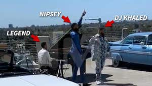 First Look at Nipsey Hussle's Last Music Video with DJ Khaled, John Legend