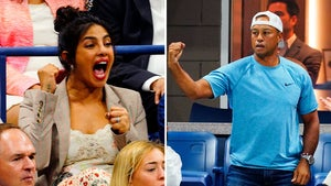 Tiger Woods Fist Pumps for Serena Williams' Dominance at U.S. Open