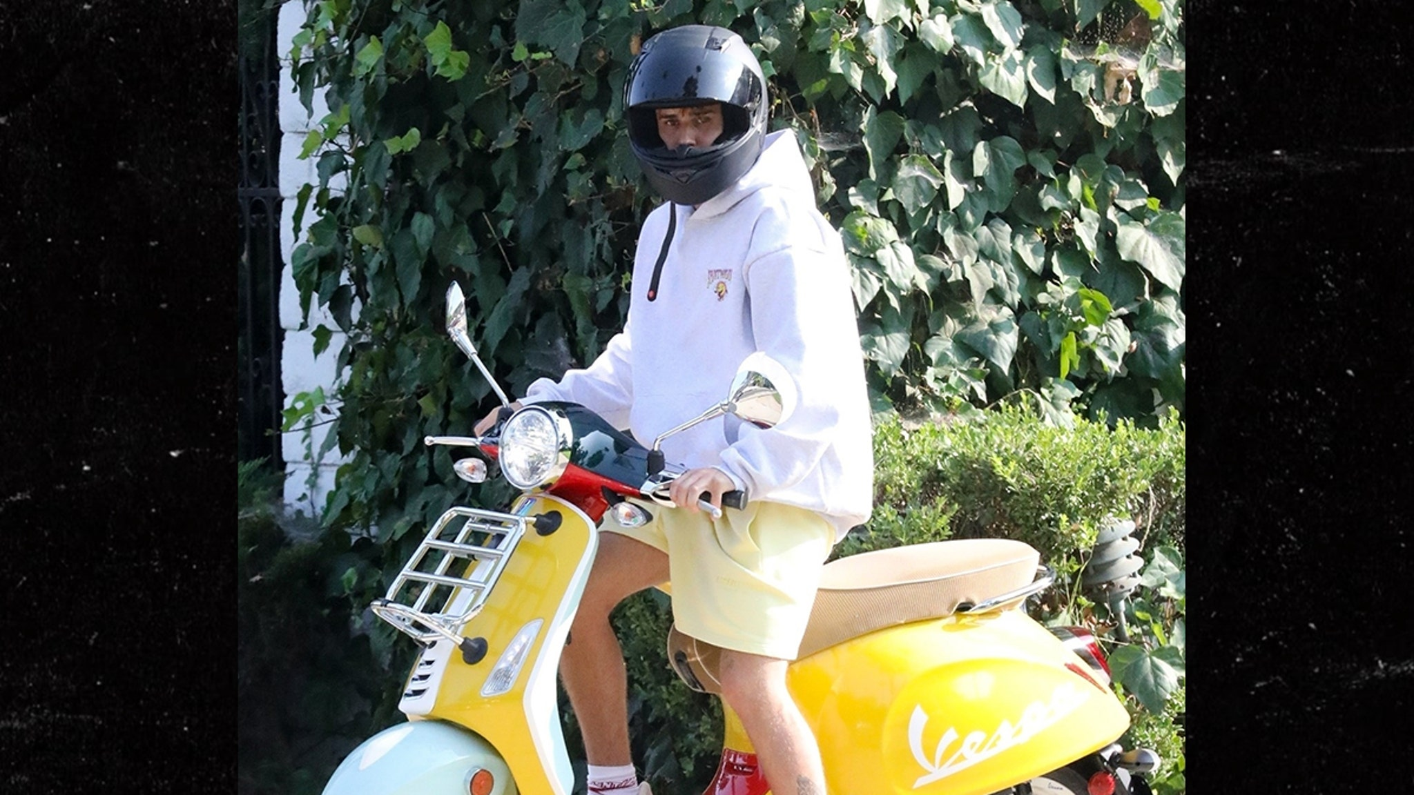 Justin Bieber Yellow There ... Yeezys On My Vespa!!!