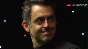 Snooker Star Ronnie O'Sullivan Rips Huge Fart and Blames Ref, Busted By Video