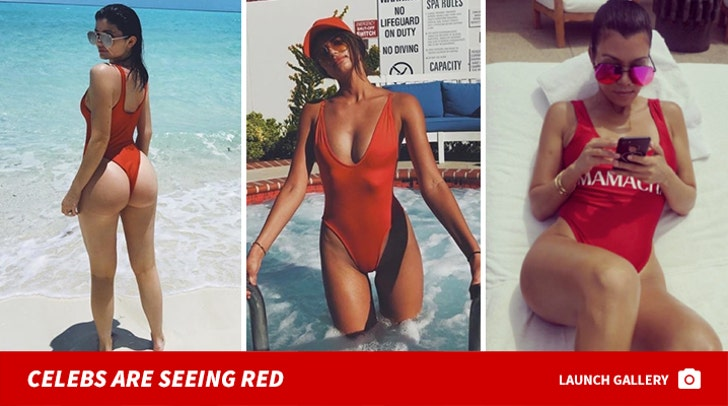 Stars In Red-Hot Swimsuits