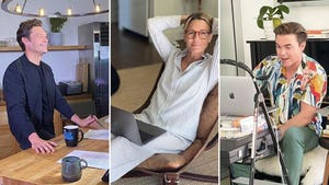 Stars Working From Home -- Business As Unusual!