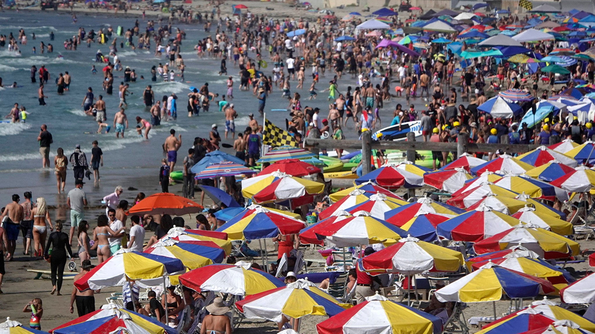 COVID-19 San Diego Beaches Packed to the Gills ... Corona Anyone???