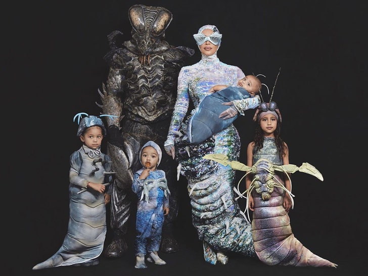 West worms! Kim Kardashian shows off another family Halloween costume