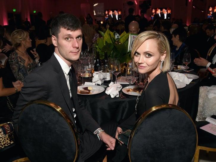 James Heerdegen and Christina Ricci -- Happier Times