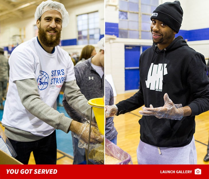 Sixers Volunteering for Thanksgiving -- You Got Served