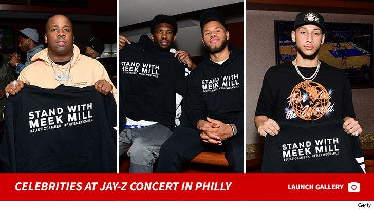 Celebrities At Jay-z Concert in Philly