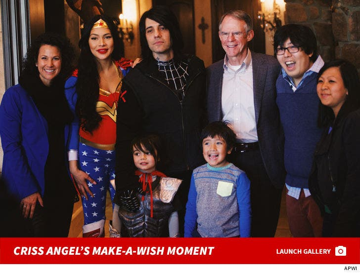 Criss Angel's Make-A-Wish Photos