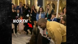 Kanye West Stands by North West's Side as She Performs Own Song