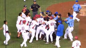 Benches Clear In Taiwan Baseball Game After Pitcher Beans Hitter in the Ass!