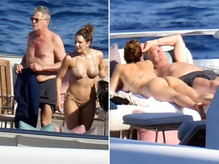 Katharine Mcphee and David Foster -- Hot Honeymoon in Capri