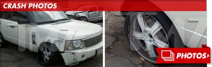 Jenna Jameson's Range Rover Crash Photos