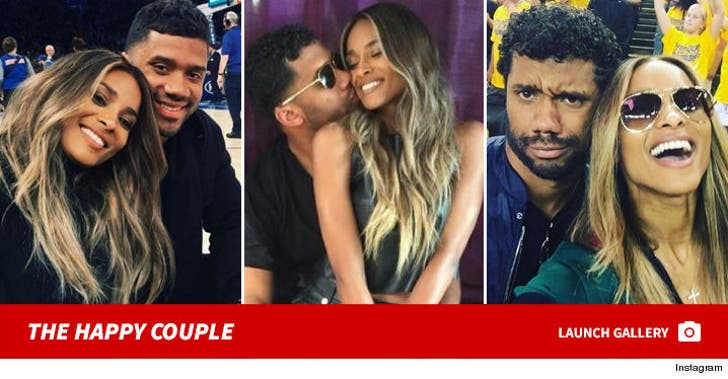 Ciara and Russell Wilson -- The Happy Couple