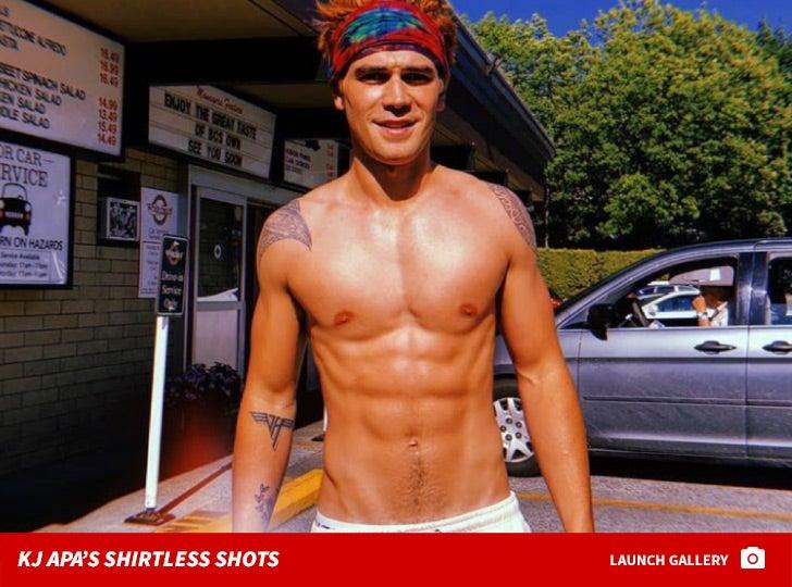 KJ Apa's Shirtless Shots