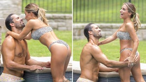 Eric Decker Grabs Handful Of Thonged-Out Wife Jessie James In Cheetah Bikini
