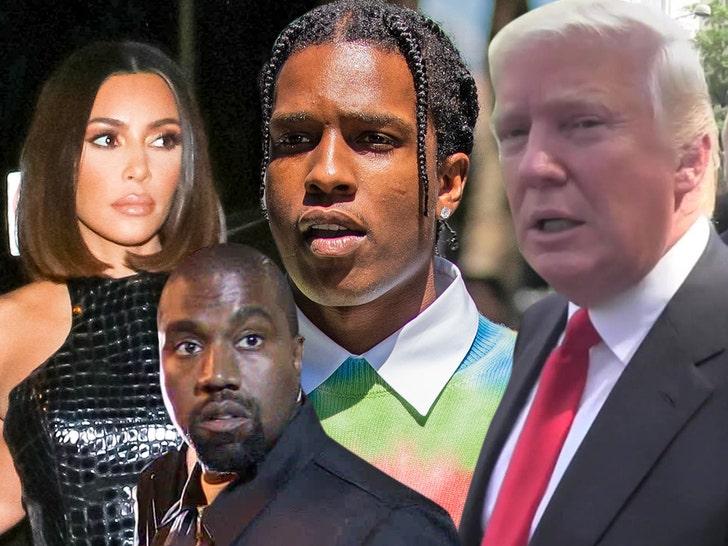 Kim Kardashian & Kanye West Lobbied Trump in A$AP Rocky's Case