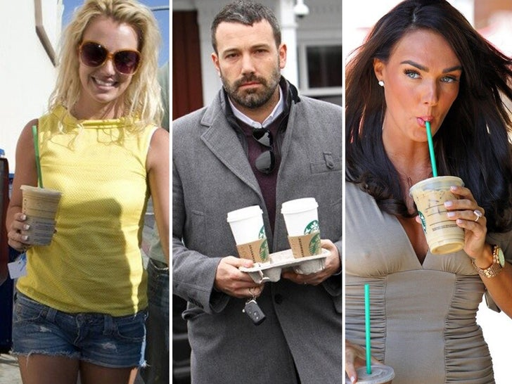 Celebs Drinking Starbucks