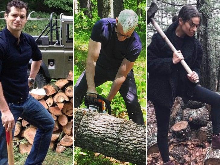 Celebrity Lumberjacks With HollyWOOD Chops