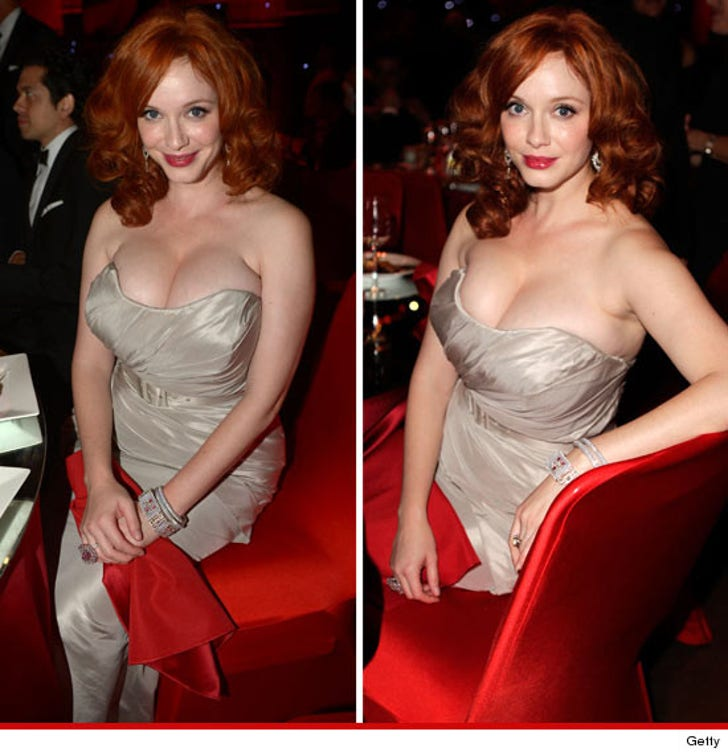 Her Christina Cleavage The Brought Hendricks To Emmys CxerBWdo
