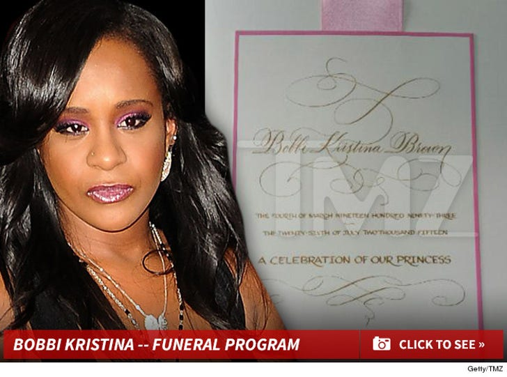 Bobbi Kristina -- Funeral Program