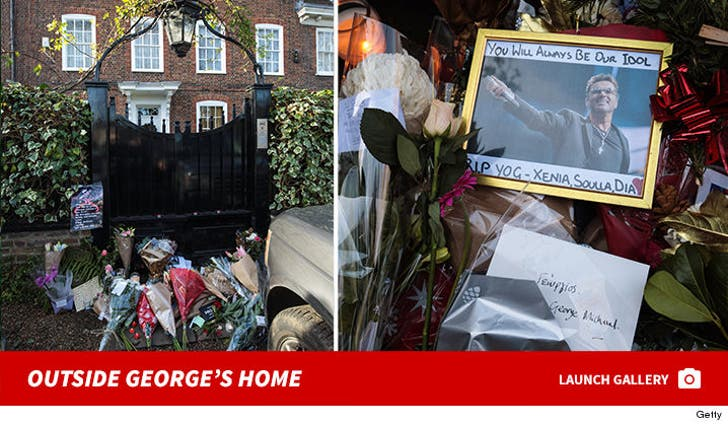 Outside George Michael's Home