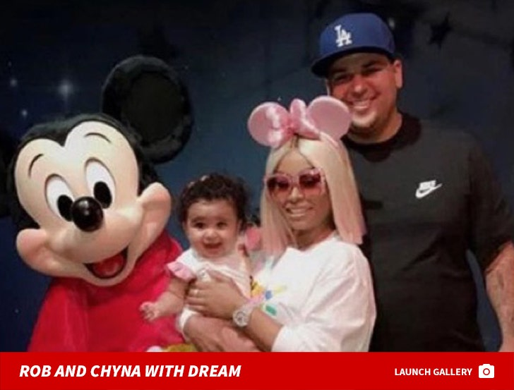 Rob Kardashian and Black Chyna With Dream
