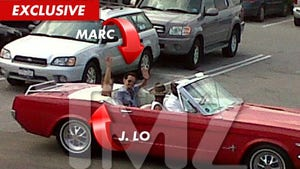 J.Lo & Marc Anthony -- REUNITED in Red Convertible