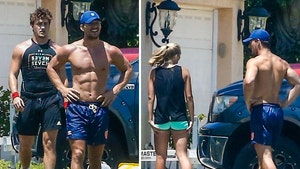 Tyler Cameron Works Out Shirtless With Mystery Blonde