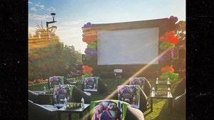 LeBron James Builds Huge Backyard Theatre For Daughter's Halloween Movie Night