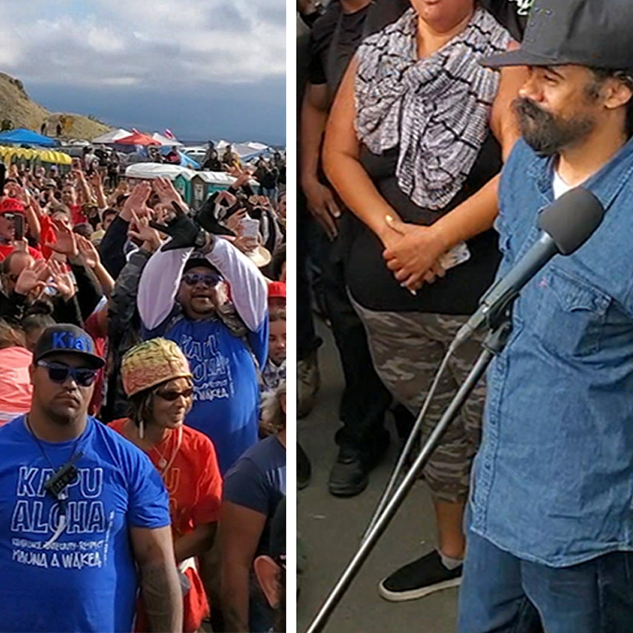 Damian Marley Sings Dad's Classics During Hawaiian Protest