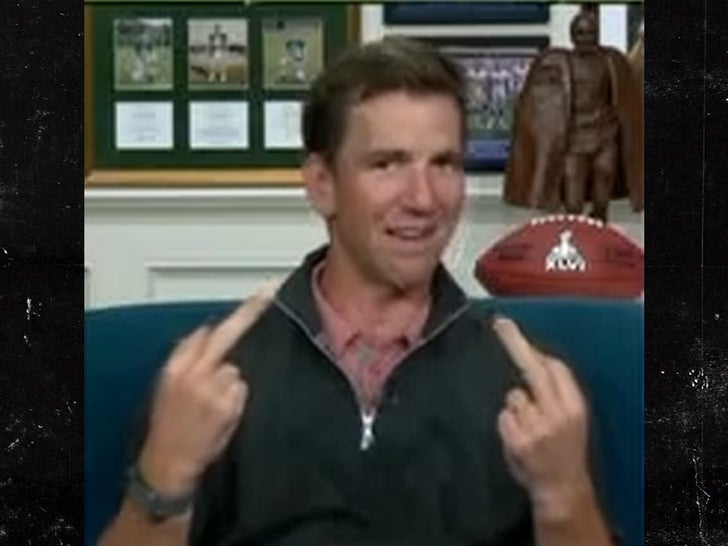 Eli Manning Flips Double Middle Fingers During Live 'MNF' Broadcast.jpg
