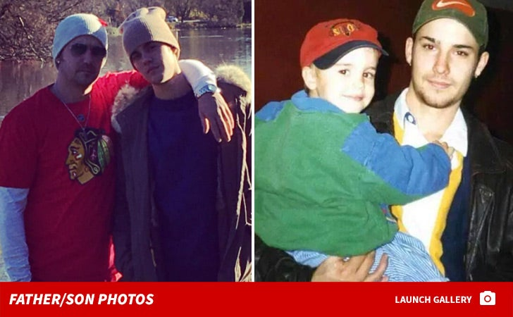 Jeremy and Justin Bieber -- The Father/Son Photos