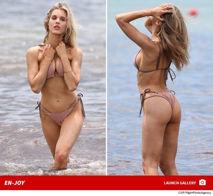 Joy Coorigan Modeling in a Bikini ... En-Joy!