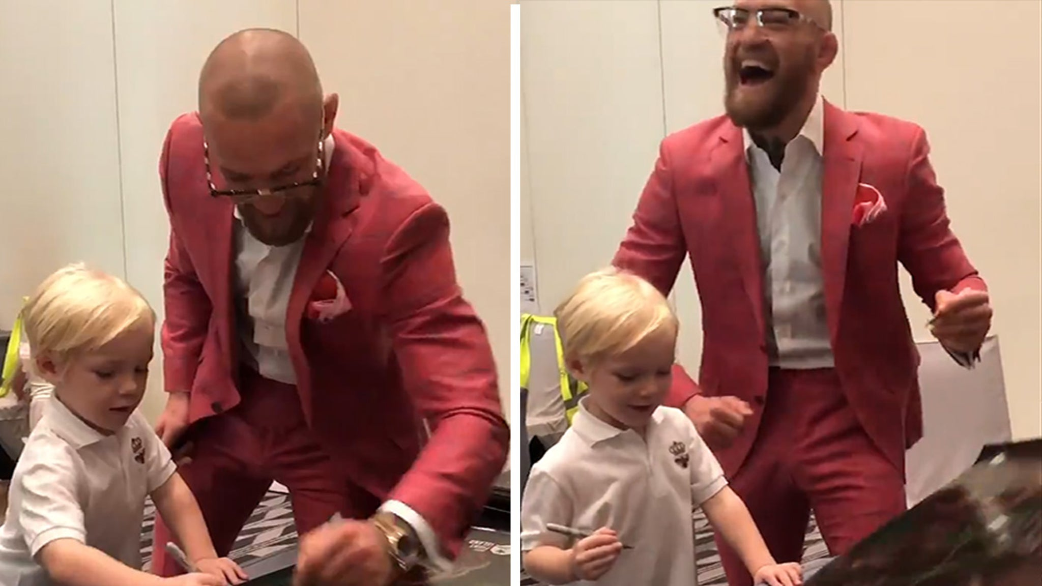 Conor McGregor Jr. Adorable Poster Signing Sesh W/ Dad ... Ahead Of UFC 257