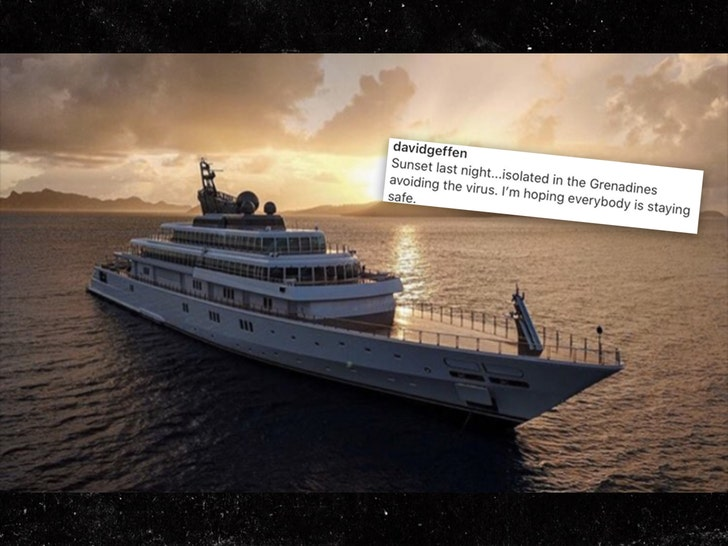 David Geffen Deletes IG After Backlash for Flexing Quarantine on $590M Yacht