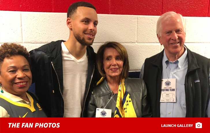 Nancy Pelosi And Barbara Lee At The Warriors Game