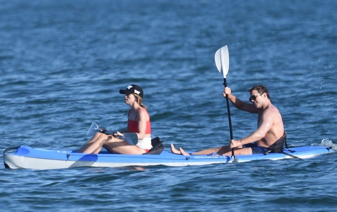 Chris Pratt, Katherine Schwarzenegger Join Rob Lowe for Paddleboarding